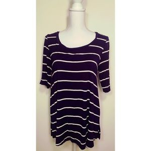 American Eagle Outfitters Tops - AMERICAN EAGLE STRIPED 3/4 SLEEVE TOP